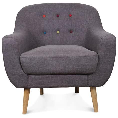siege crapaud fauteuil crapaud scandinave gris boutons colorés bjort