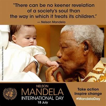 Mandela Nelson International Children July Justice Freedom