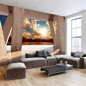 Fototapete Für Wohnzimmer : vlies fototapete 3d effekt himmel ausblick 3 farben tapete c b 0079 a b ebay ~ Sanjose-hotels-ca.com Haus und Dekorationen