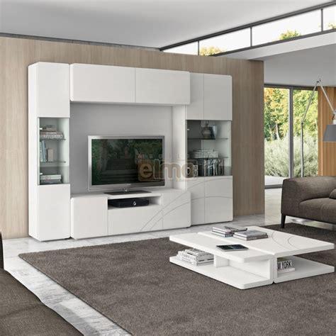 cuisine laque blanc composition murale meuble télévision moderne vitrines clarisse