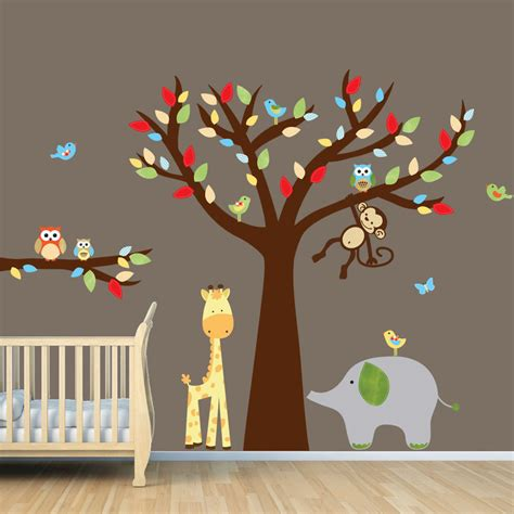 déco chambre bébé stickers nursery wall decor 2017 grasscloth wallpaper