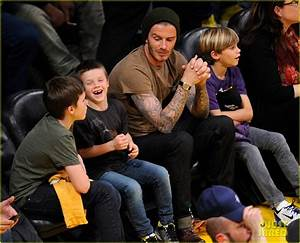 David Beckham: Lakers Game with the Boys!: Photo 2630410 ...