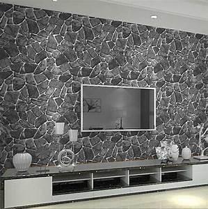 Schiefer Wandverkleidung Wohnzimmer Mit Mosaik Muster In