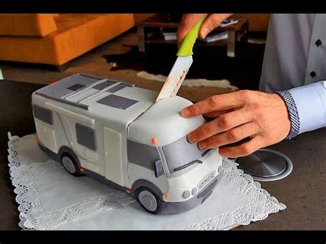 geburtstagsueberraschung wohnmobil torte youtube