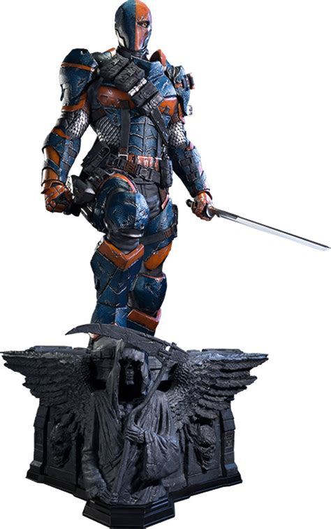 batman arkham origins deathstroke statue geekalerts