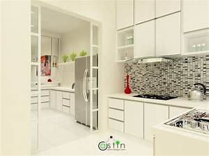 White house theme wet dry kitchen interior design for Wet and dry kitchen design