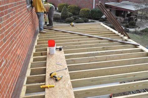 picture frame decking diagonal decking  joist blocks