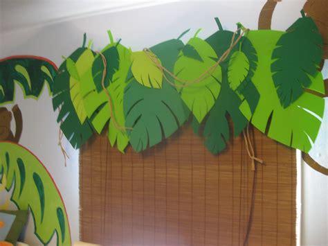 Jungle Room Valance Made From A Valance Rod Craft Foam