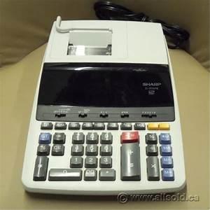 sharp el2630piii 12 digit printing calculator adding With printing calculator with letters