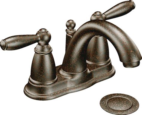moen 6610orb brantford two handle low arc bathroom faucet