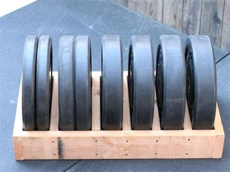 diy bumper plate storage box  simple    garage fitness pinterest plate