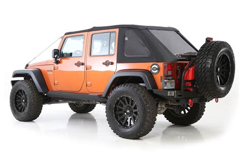 jeep wrangler 2 door soft top smittybilt 9073235 bowless combo soft top for 07 17 jeep