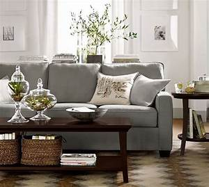 pottery barn sofas sectionals cozy living rooms with With gray sectional sofa pottery barn