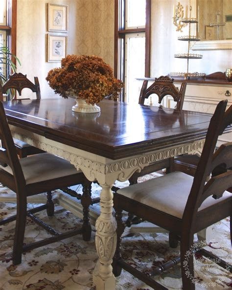 how to paint a dining room table with chalk paint painted furniture dining room table update new house