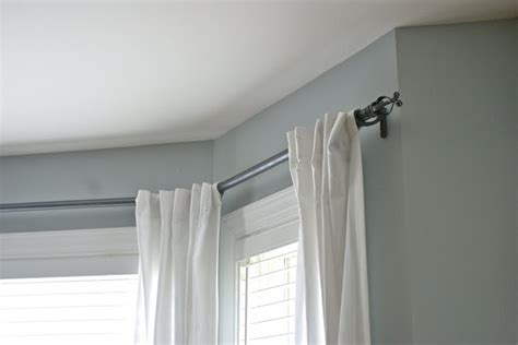 electrical conduit bay window curtain rod bay window curtain rod with pvc decorating