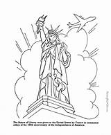 Liberty Statue Coloring Pages Printable Sheets Symbols Drawing Usa Patriotic Printables American Face Places History Flag Symbol Clipart Ue Activities sketch template