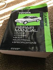 Toyota Camry 1989 Repair Service Manual  Complete Volume