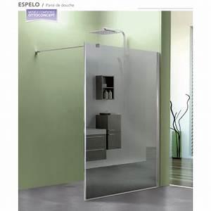 Miroir De Douche : paroi de douche fixe espelo avec verre miroir robinet co ~ Nature-et-papiers.com Idées de Décoration