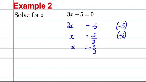 gcse maths revision solving linear equations 1
