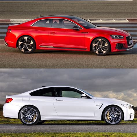 Vs Bmw by Photo Comparison Bmw M4 Competition Package Vs Audi Rs5