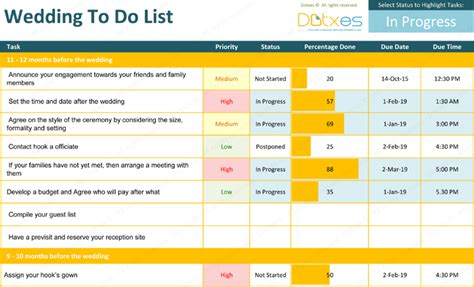 wedding   list template ideal planning checklist