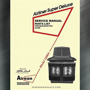 Aireon Model 1200 A Airliner Super Deluxe Serice Manual