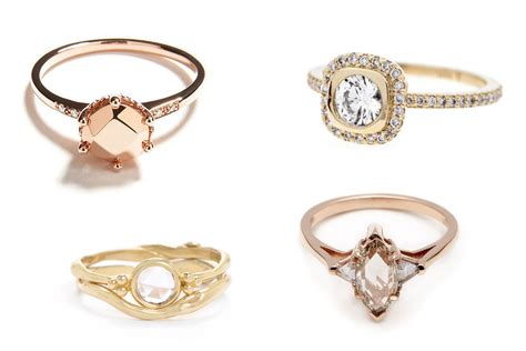 20 Unique Engagement Rings From Anna Sheffield  Confetti