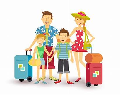 Vacation Travel Flat Happy Clip Holiday Children
