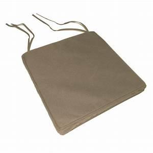 Galette De Chaise Exterieur Impermeable : galette de chaise impermeable dehoussable beige achat vente coussin de chaise cdiscount ~ Teatrodelosmanantiales.com Idées de Décoration