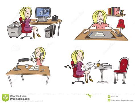 femme de bureau bureau travaillant de femme image libre de droits image