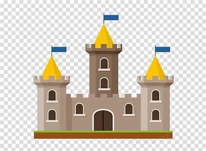 Castle Yellow Landmark Architecture Clipart Clip Building