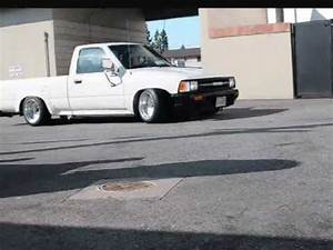 Stanced Toyota Pick Up - YouTube