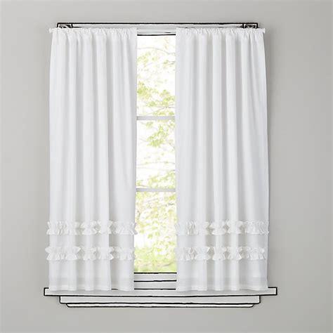 white ruffle curtains kids curtains kids white ruffle curtain panels the