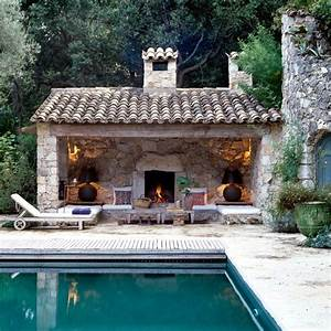 Swimming Pool With Fireplace Interior Design Ideas