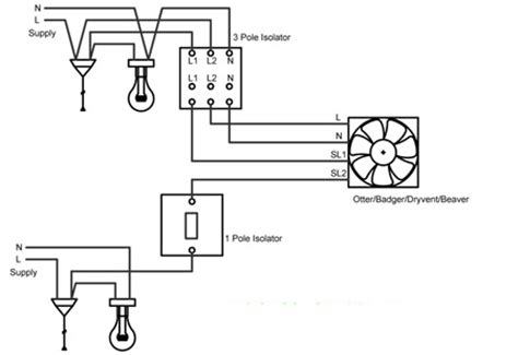 dryvent b 240v wiring diagram rhl ventilation bathroom and kitchen extractor fans
