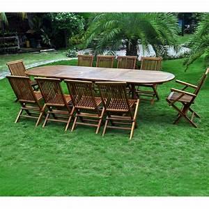 Salon Jardin Teck : salon en teck meublez de jardin table 12 places ~ Melissatoandfro.com Idées de Décoration