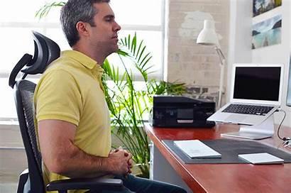 Exercises Office Desk Shoulder Rolls Workout Stretch