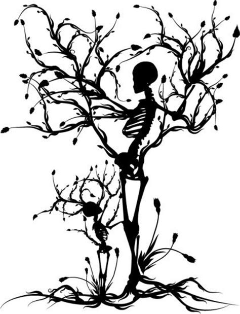 Mother and Child Skeleton Tree -- Artist: Renee Reeder | Art For The Heart | Pinterest | Trees