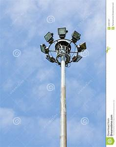 Stadium light pole royalty free stock photography image