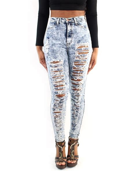 Heals Sofas by Shredded Acid Wash Jeans Women S Clothing
