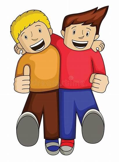 Friend Clipart Clip Boy Together Illustration Walking