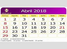 Calendário de abril de 2018 5 Printable 2018 calendar