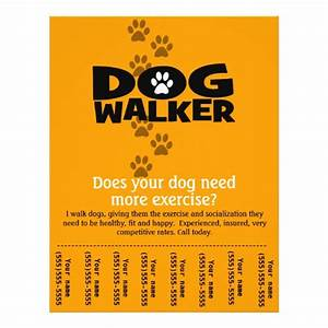 dog walking business tear sheet flyer template zazzle With dog walking flyer template free