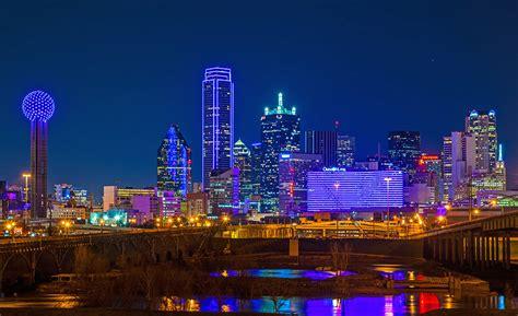 Houston Skyline Hd Wallpaper Why Dallas Skyline Turned Purple D Magazine