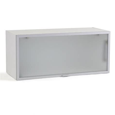 meuble de cuisine alinea meuble de cuisine haut court porte relevante en verre 80cm vita cuisines modulables meubles