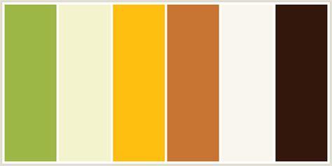 Colorcombo189 With Hex Colors #9eb847 #f3f3cc #febf10