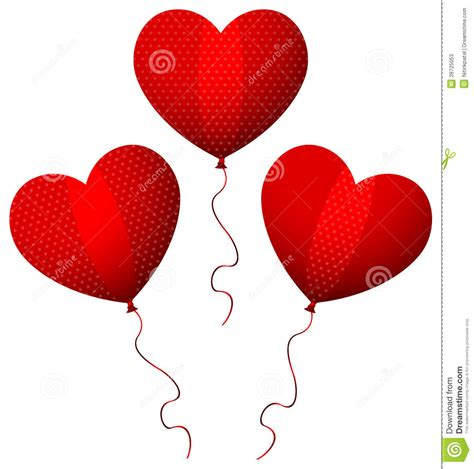 designer red heart balloons stock  image