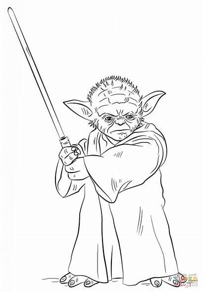 Coloring Wars Star Yoda Pages Kaynak Bd