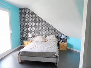 Quel Mur Peindre : chambre mansardee quel mur peindre inspirations avec ~ Melissatoandfro.com Idées de Décoration
