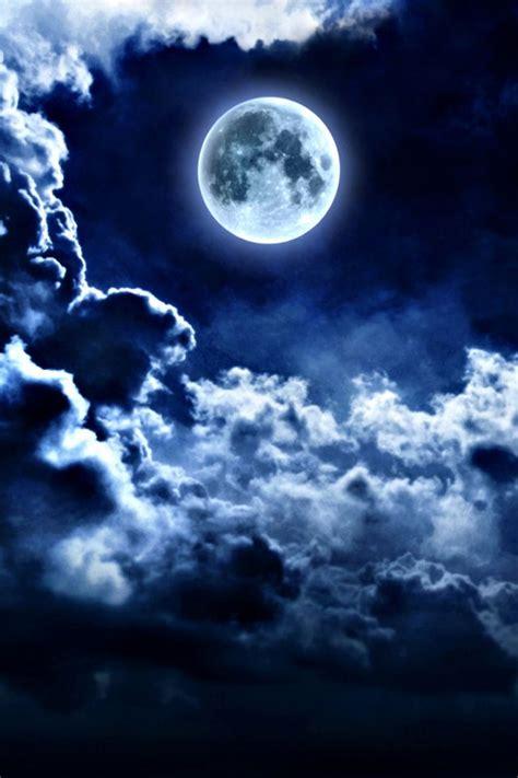 Black Wallpaper Iphone Moon by Blue Moon Iphone 4 Wallpaper